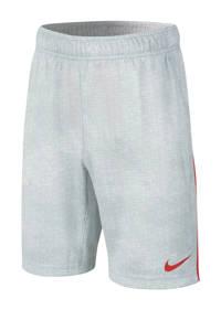 Nike   short lichtgrijs/rood, Lichtgrijs/rood