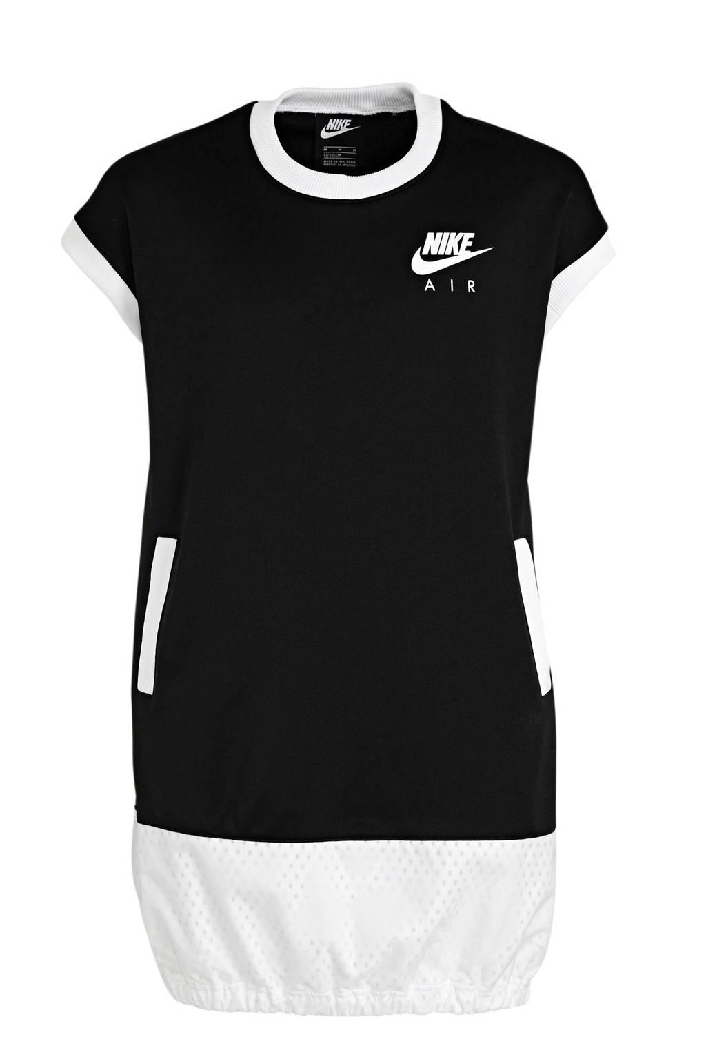 Nike Air T-shirt jurk zwart/wit, Zwart/wit