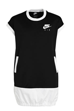 Air T-shirt jurk zwart/wit