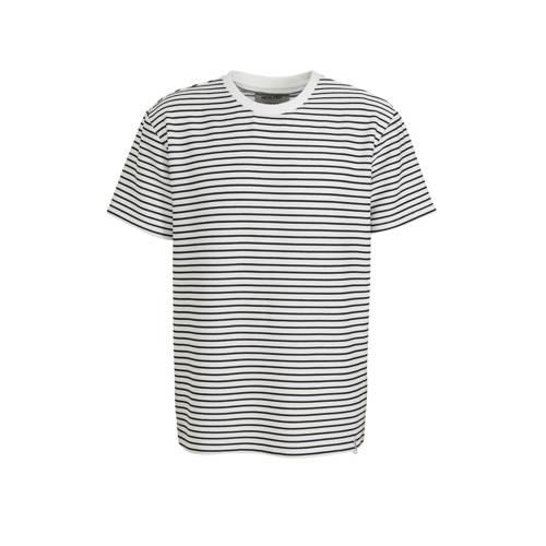 Anerkjendt gestreept T-shirt wit