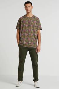 Anerkjendt T-shirt met all over print groen, Groen