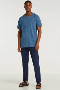 Anerkjendt gestreept T-shirt blauw, Blauw
