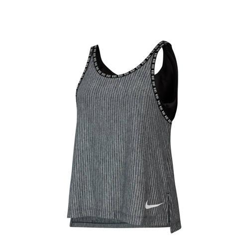 Nike top grijs melange