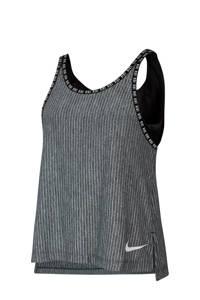 Nike top grijs melange, Grijs melange