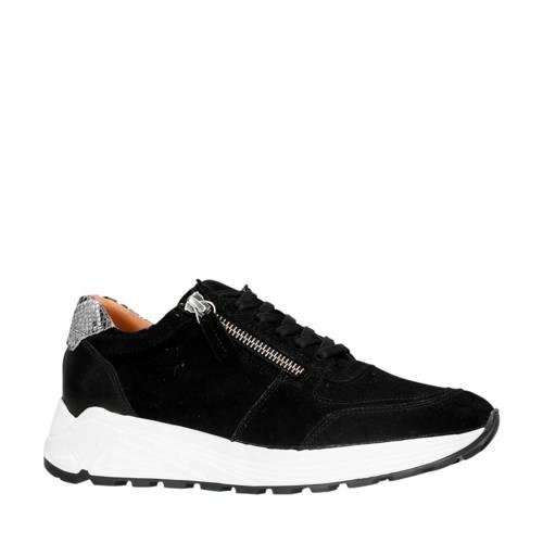 Manfield su??de sneakers zwart