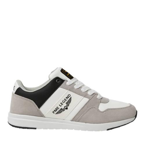 PME Legend Dragger leren sneakers wit/grijs