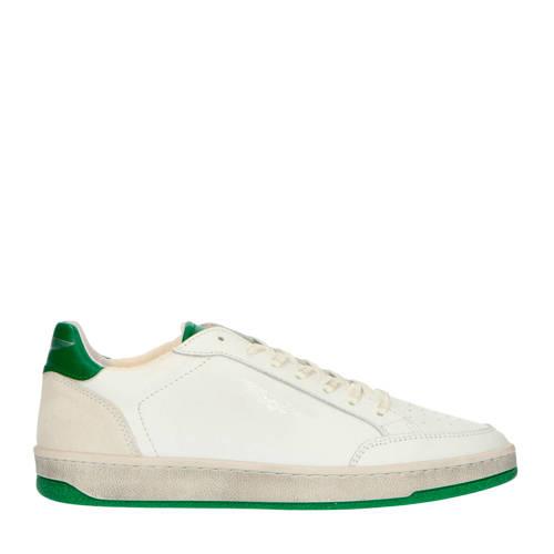 PME Legend Nosestar leren sneakers wit/groen