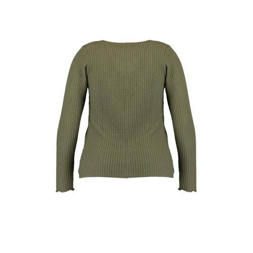 MS Mode top olijf groen