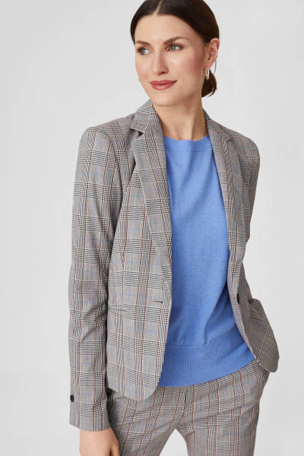C&A geruite blazer grijs/wit, Grijs/wit