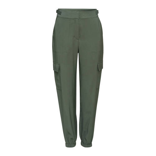 ESPRIT Women Casual slim fit cargobroek groen