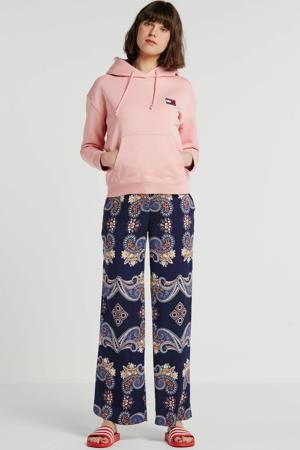 palazzo broek met paisleyprint donkerblauw/multi