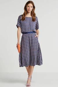 ESPRIT Women Collection top met all over print paars, Paars