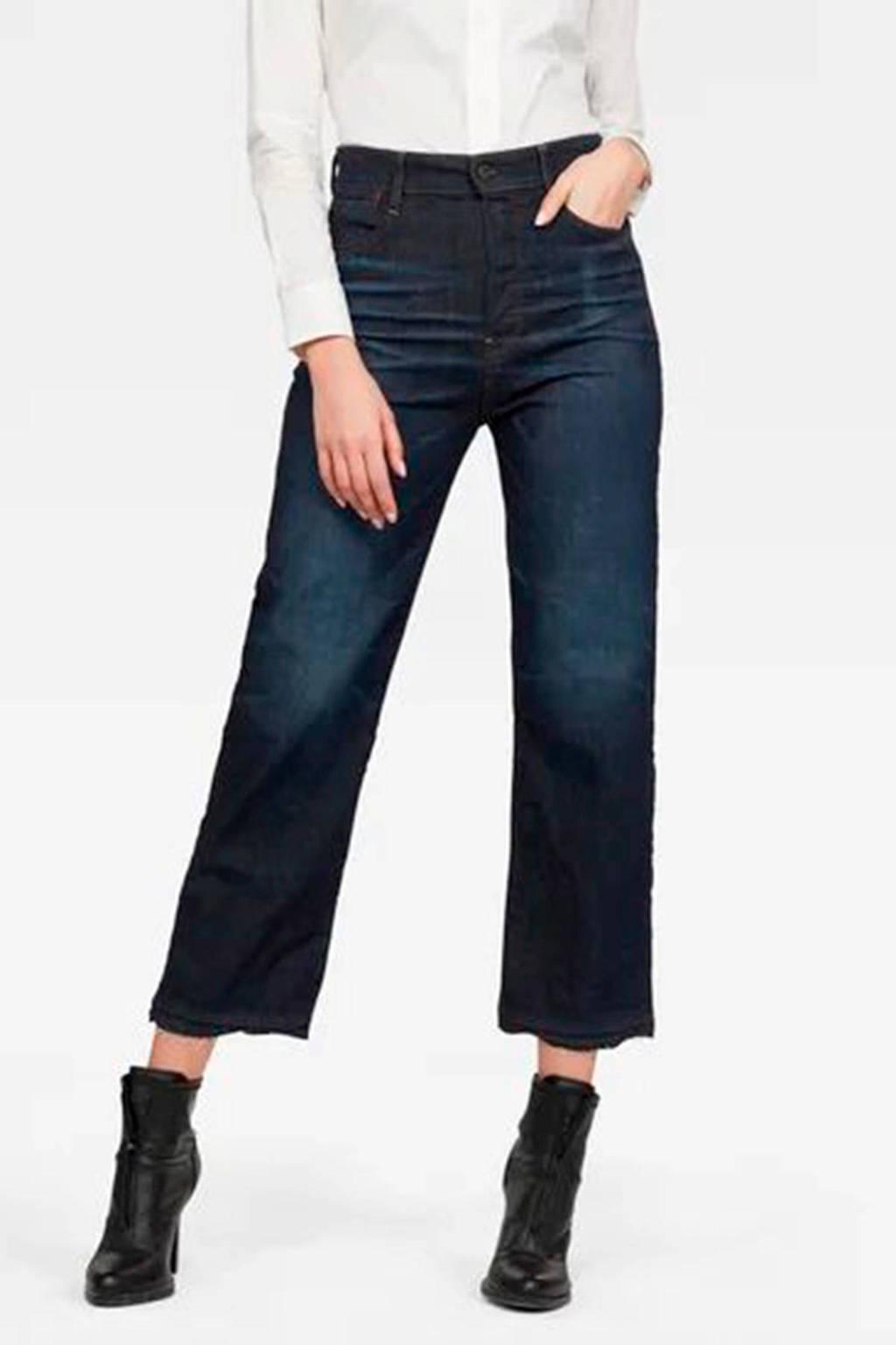 G-Star RAW Tedie cropped high waist straight fit jeans stonewash, Stonewash
