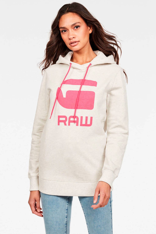 G-Star RAW sweater met logo ecru, Ecru