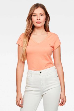 T-shirt Eyben slim tangerine