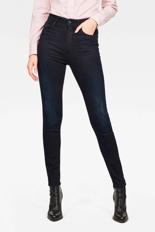 G-Star RAW high waist skinny jeans Kafey B188/worn in blue storm