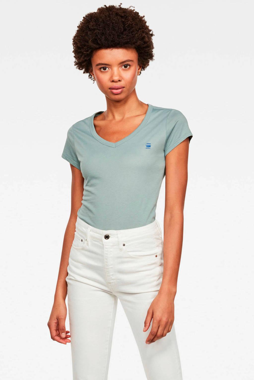 G-Star RAW T-shirt mintgroen, Mintgroen