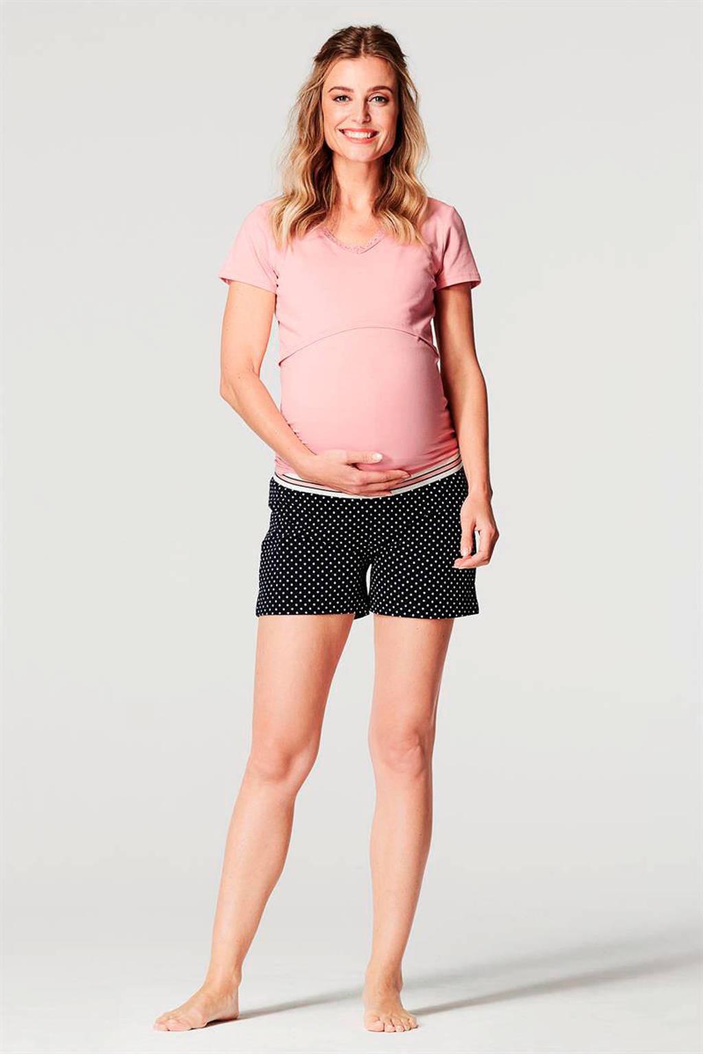 Noppies zwangerschaps pyjamatop Floor roze, Roze