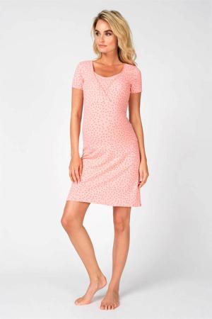 zwangerschapsnachthemd Suzy roze/rood