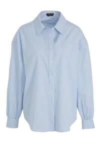 Colourful Rebel gestreepte blouse Cece blauw/ wit
