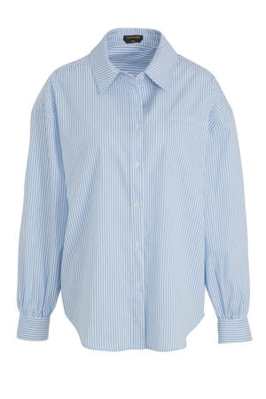 gestreepte blouse Cece blauw/ wit