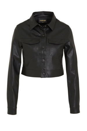 imitatieleren jasje Paris zwart
