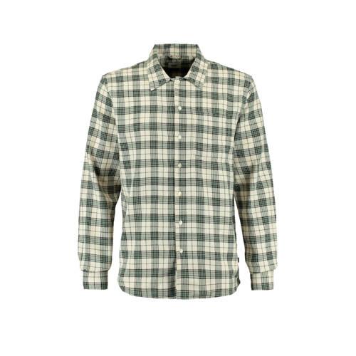 America Today geruit regular fit overhemd green