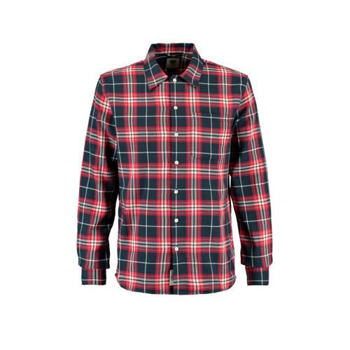 America Today geruit regular fit overhemd rood
