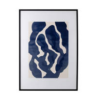 Bloomingville schilderij  (52x72 cm), Zwart