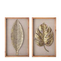 Bloomingville decoratielijst met bladeren, Bruin
