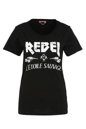 T-shirt Rebel Etoile met printopdruk zwart/wit