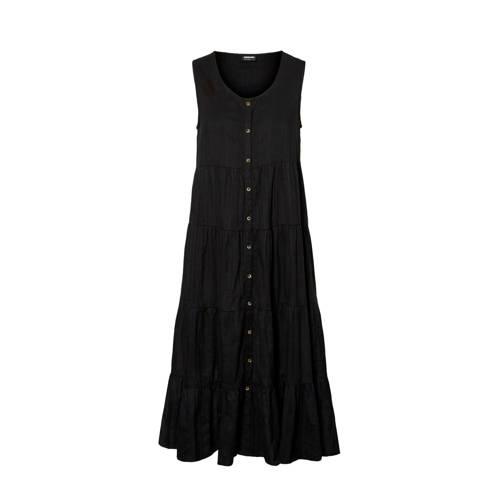 NOISY MAY maxi A-lijn jurk zwart