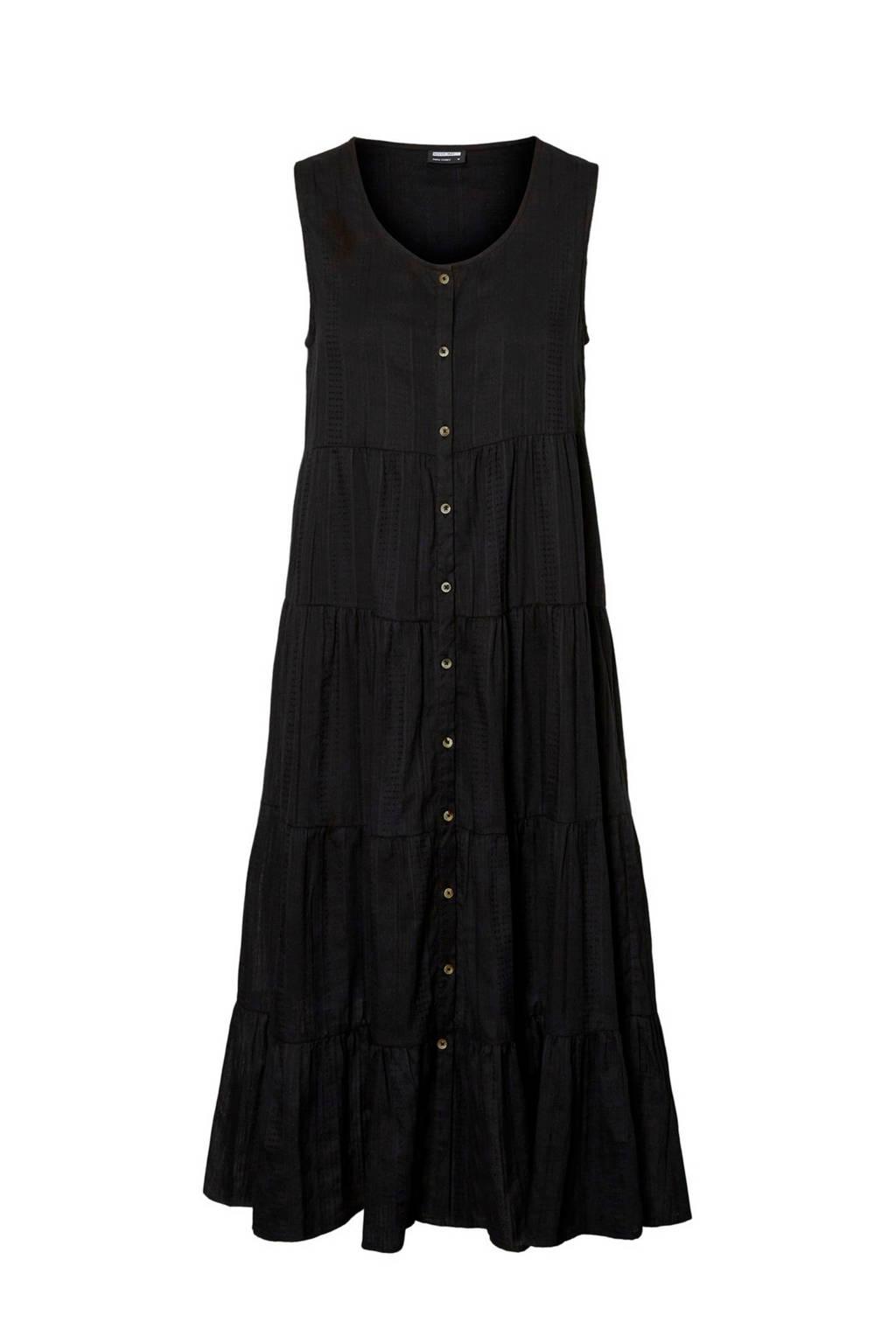 NOISY MAY maxi A-lijn jurk zwart, Zwart