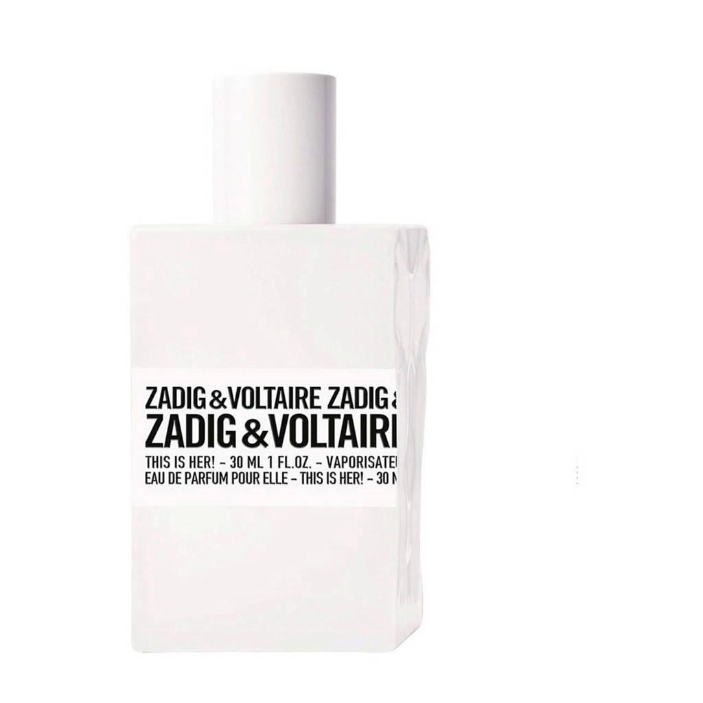 Zadig & Voltaire This is Her! eau de parfum  - 30 ml