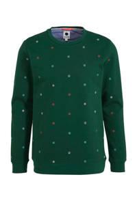 J.C. Rags sweater met all over print groen, Groen