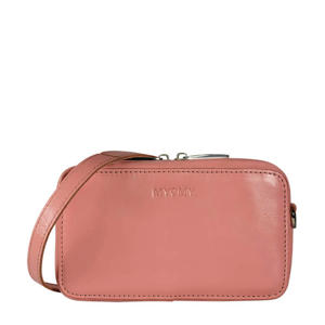 leren crossbody tas MY BOXY BAG roze