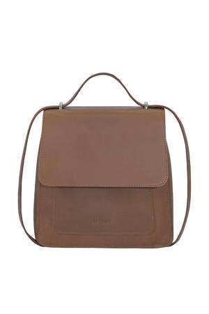 leren handtas MY BOXY BAG bruin