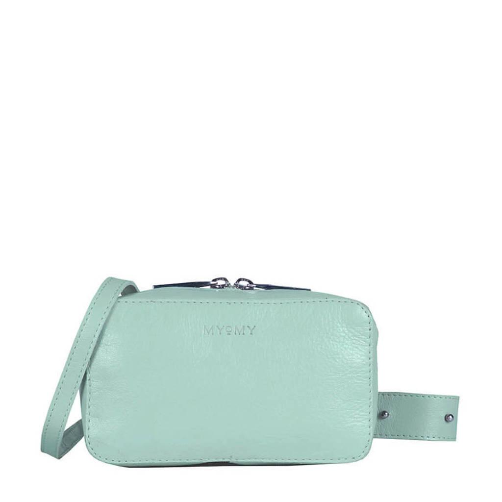 MYOMY  leren crossbody tas MY BOXY BAG mint, Mint