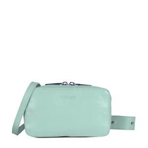 leren crossbody tas MY BOXY BAG mint