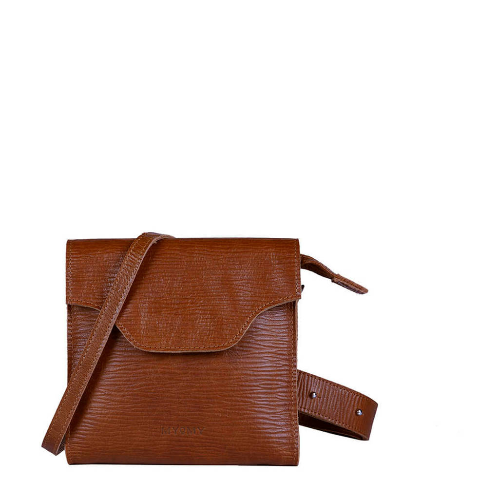 MYOMY  leren crossbody tas My Carry Bag Festival cognac, Cognac