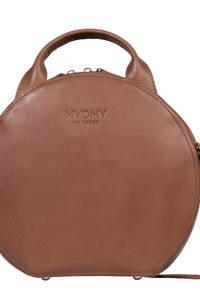 MYOMY  leren handtas MY BOXY BAG bruin, Bruin