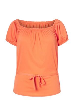 off shoulder top oranje