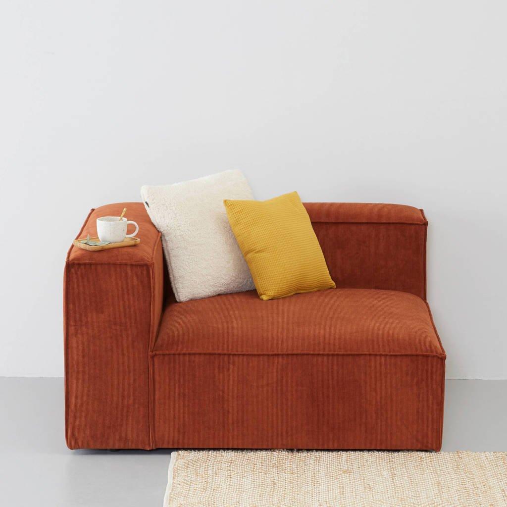 Wehkamp Home Igor modulair bankelement (chaise links), Terracotta