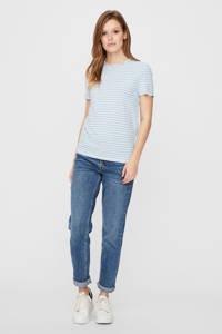 VERO MODA gestreept T-shirt lichtblauw/wit, Lichtblauw/wit