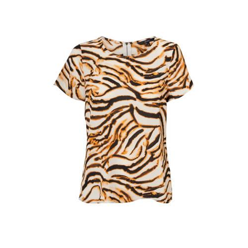 VERO MODA T-shirt met zebraprint bruin