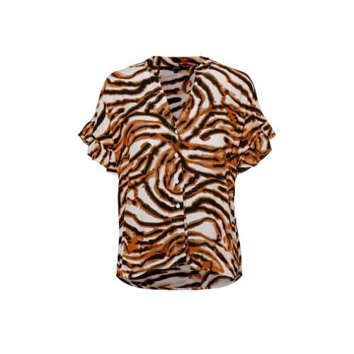 VERO MODA blouse met all over print en ruches brui