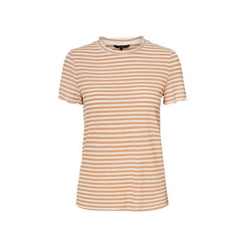 VERO MODA gestreept T-shirt wit/oranje