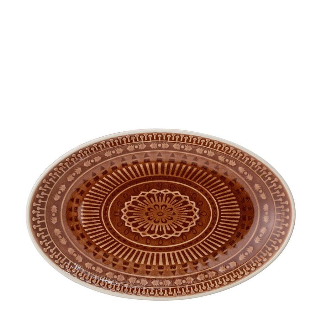 Bloomingville serveerschaal Rani (22,5x14 cm), Bruin