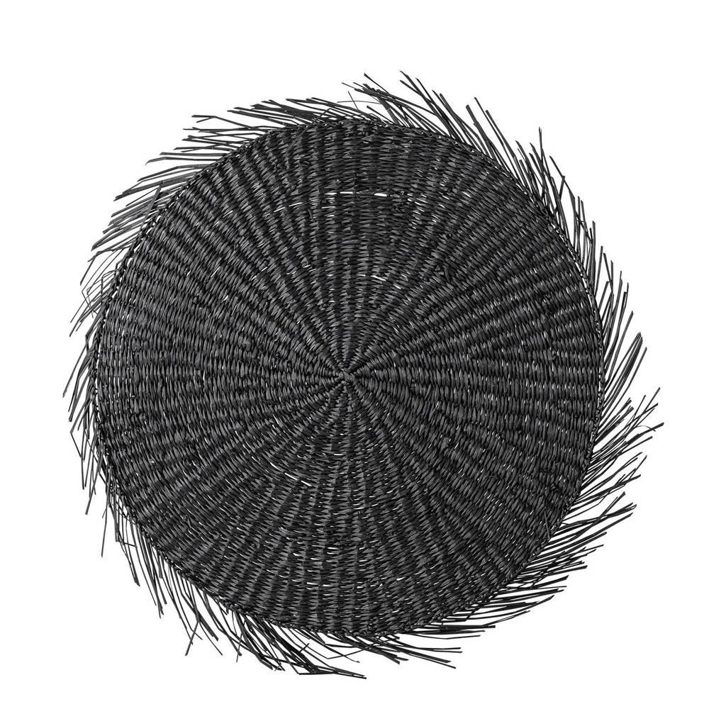 Bloomingville placemat (Ø38 cm), Zwart