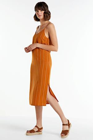 gestreepte jurk Soufflot oranje